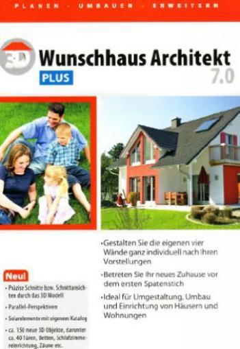 3d wunschhaus architekt 7 0 plus deutsch g nstig kaufen. Black Bedroom Furniture Sets. Home Design Ideas