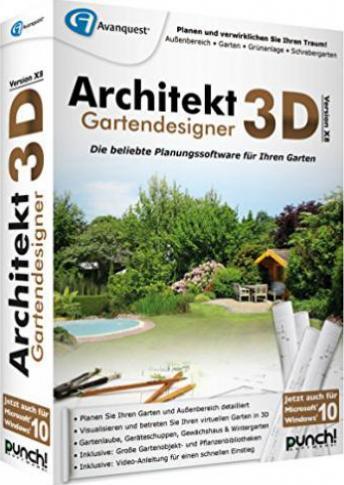 Punch architekt 3d x8 gartendesigner deutsch g nstig for Architekt 3d gartenplaner