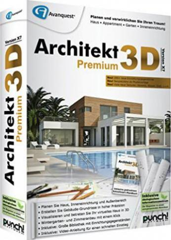 punch architekt 3d x7 premium deutsch g nstig kaufen. Black Bedroom Furniture Sets. Home Design Ideas